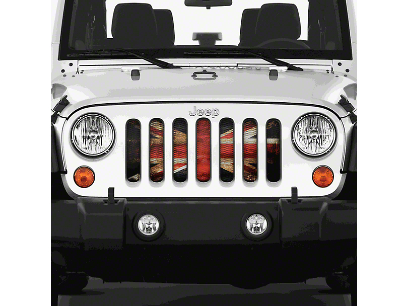Dirty Acres Grille Insert - English Rock (07-18 Jeep Wrangler JK)