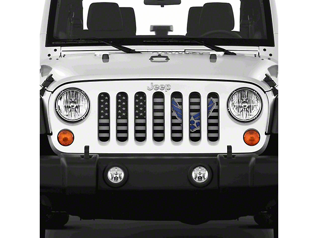 Grille Insert; Fly High Air Force (07-18 Jeep Wrangler JK)
