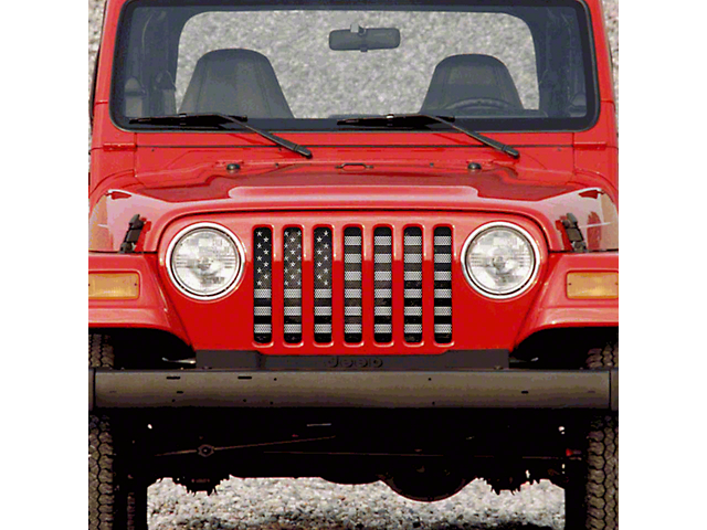 Dirty Acres Grille Insert - American Grunge Tactical (97-06 Jeep Wrangler TJ)