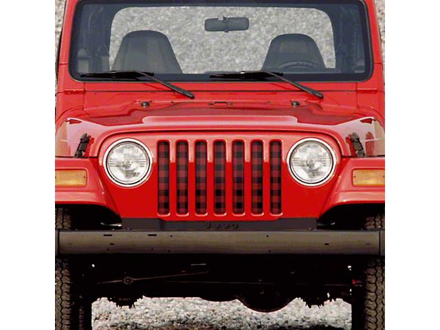 Dirty Acres Grille Insert - Lumberjack (97-06 Jeep Wrangler TJ)