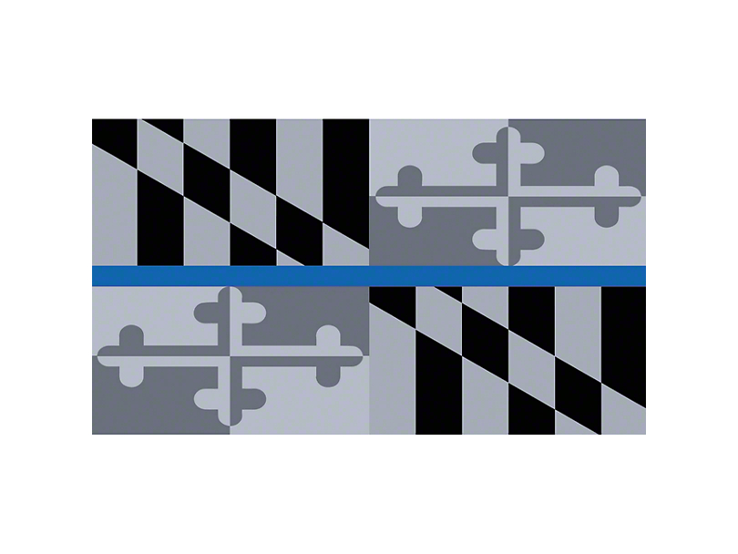 Grille Insert; Maryland Tactical State Flag (97-06 Jeep Wrangler TJ)