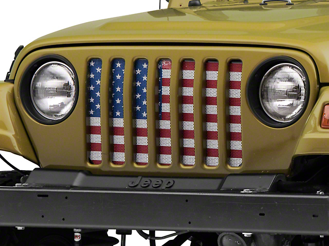 Dirty Acres Grille Insert - Old Glory (97-06 Jeep Wrangler TJ)