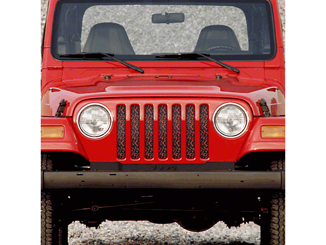 Dirty Acres Grille Insert - Orange Camo (97-06 Jeep Wrangler TJ)
