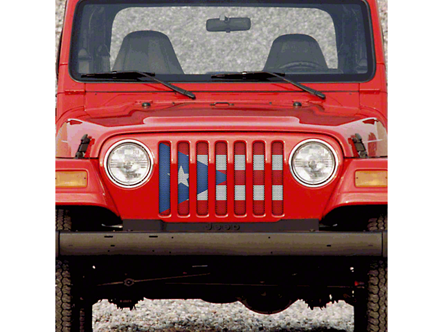 Grille Insert; Puerto Rico Flag (97-06 Jeep Wrangler TJ)