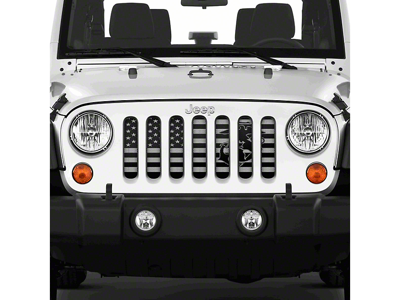 Dirty Acres Grille Insert - Semper Fi USMC (07-18 Jeep Wrangler JK)