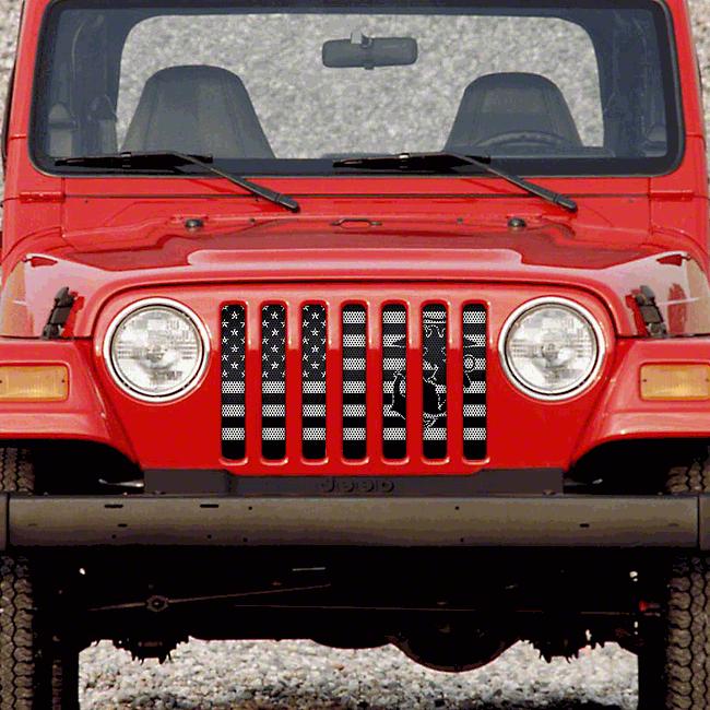 Dirty Acres Grille Insert - Semper Fi USMC (97-06 Jeep Wrangler TJ)