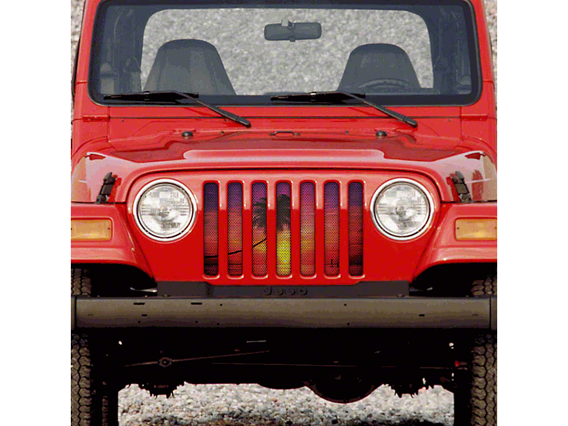 Dirty Acres Grille Insert - Sunset Beach (97-06 Jeep Wrangler TJ)