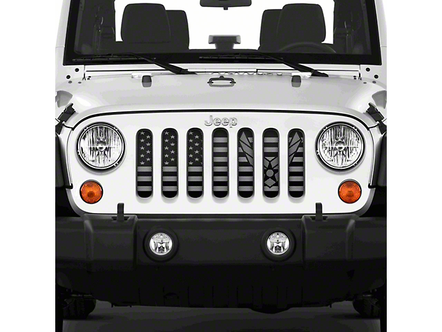 Dirty Acres Grille Insert - Tactical Flight Air Force (07-18 Jeep Wrangler JK)