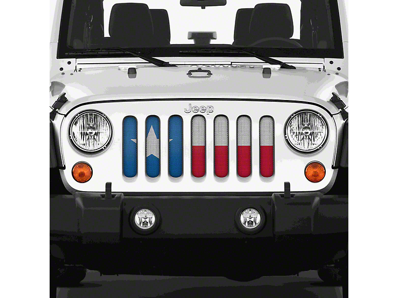 Dirty Acres Grille Insert - Texas State Flag (07-18 Jeep Wrangler JK)