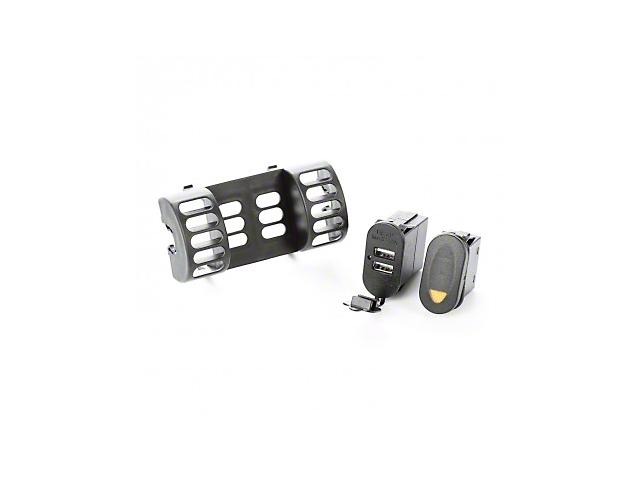 Outland AC Vent Switch Pod w/ Rocker Switch & Dual USB Connector (97-06 Jeep Wrangler TJ)