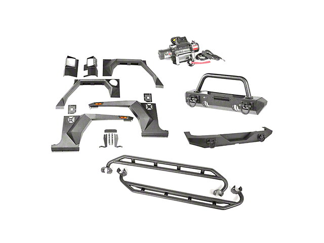 Rugged Ridge Jeep Wrangler XHD Armor Package w/ Stinger