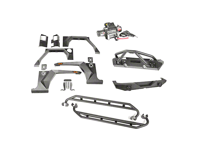 Rugged Ridge XHD Armor Package w/ Double X Striker (07-18 Jeep Wrangler JK 4 Door)