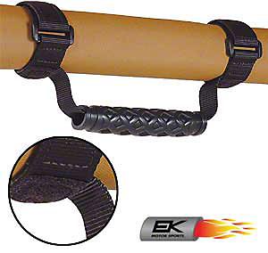EK Motorsports Roll Bar Grab Handles - Black (87-18 Jeep Wrangler YJ, TJ, JK & JL)