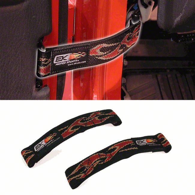 2pc Door Limiting Heavy Duty Straps Fit for Jeep Wrangler JK YJ TJ CJ 1996-2007