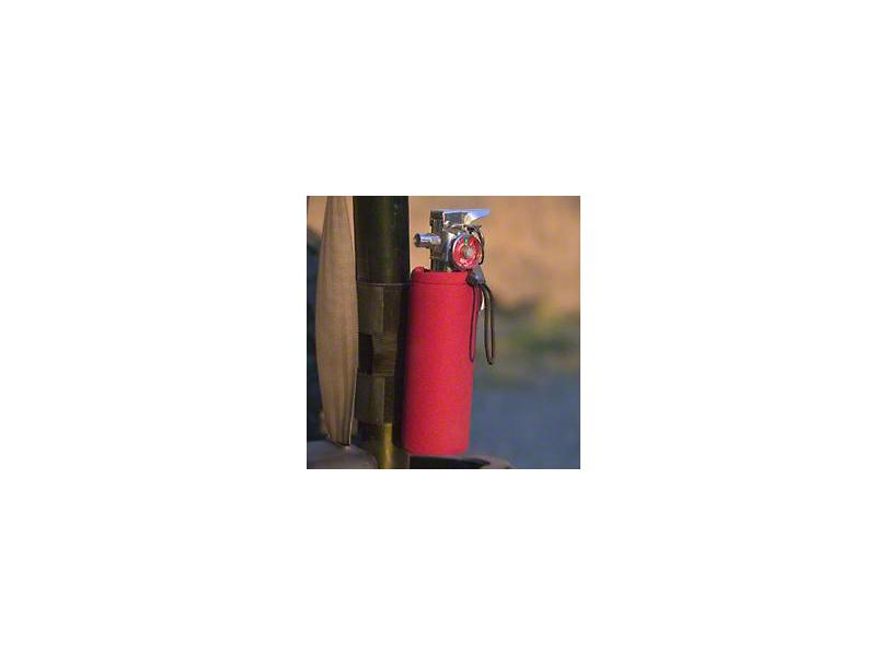 EK Motorsports Neoprene Fire Extinguisher/Water Bottle Holder; Red