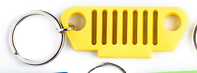 TJ Grille Rubber Keychain - Yellow
