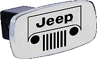 Jeep Grille Logo Hitch Cover (87-18 Jeep Wrangler YJ, TJ, JK & JL)