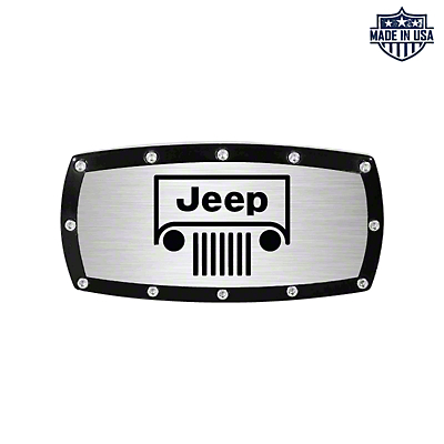 Jeep Grille Logo Billet Hitch Cover (87-18 Jeep Wrangler YJ, TJ, JK & JL)