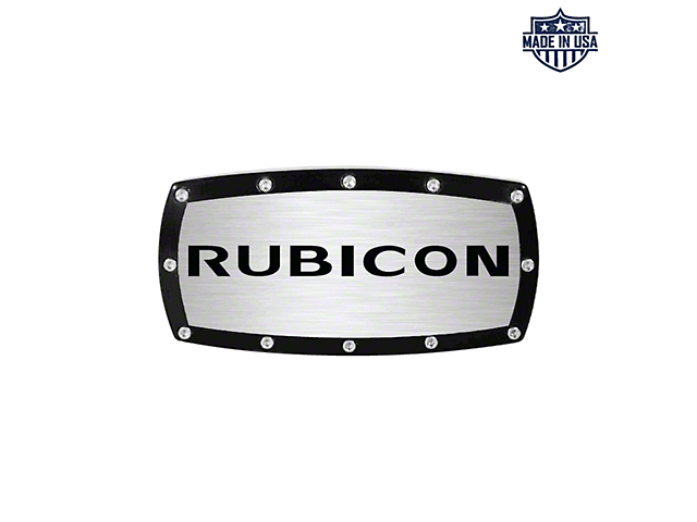 Rubicon Logo Billet Hitch Cover (Universal Fitment)