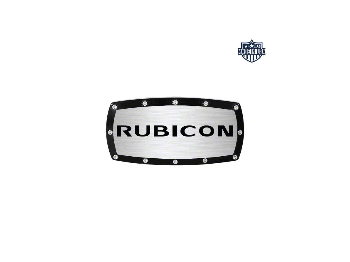 Rubicon Logo Billet Hitch Cover (87-20 Jeep Wrangler YJ, TJ, JK & JL)