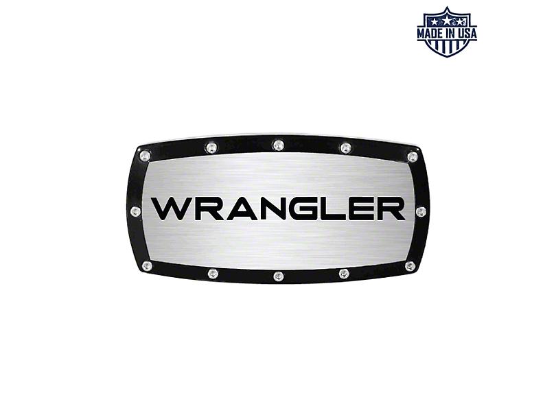Wrangler Logo Billet Hitch Cover (87-20 Jeep Wrangler YJ, TJ, JK & JL)