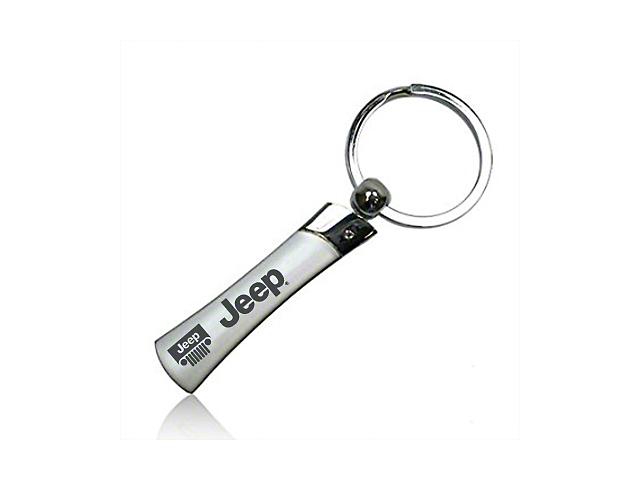 Metal Blade Keychain w/ Jeep Logo