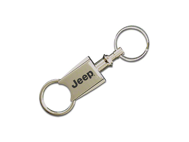 Valet Pull Apart Keychain with Jeep Name