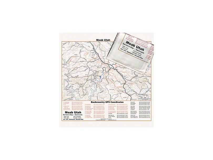 Off Road Map Bandana - Moab, UT