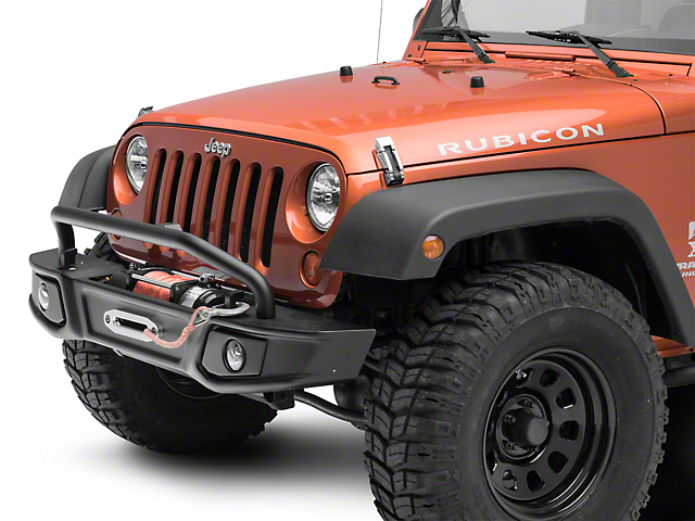 Barricade Cruiser HD Front Bumper with Over-Rider Hoop and LED Fog Lights (07-18 Jeep Wrangler JK)
