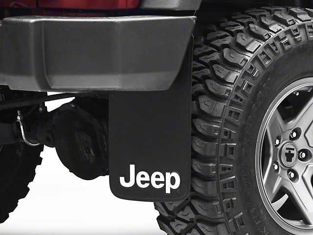 Alterum Jeep Logo Mud Guards - 11 x 19 in. (87-20 Jeep Wrangler YJ, TJ, JK & JL)