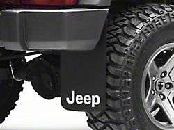 Mud Guards with Jeep Logo; Front or Rear (Universal; Some Adaptation May Be Required)