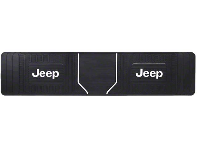 Alterum Jeep Logo Elite Rear Runner Floor Mat - Black (87-20 Jeep Wrangler YJ, TJ, JK & JL)