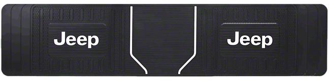 Alterum Jeep Logo Elite Rear Runner Floor Mat - Black (87-18 Jeep Wrangler YJ, TJ, JK & JL)