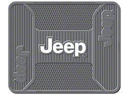 Alterum Jeep Logo Elite Rear Utility Floor Mat - Gray (87-20 Jeep Wrangler YJ, TJ, JK & JL)
