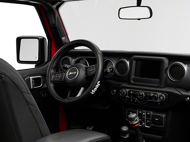 Speed Grip Steering Wheel Cover with Jeep Logo; Black (87-20 Jeep Wrangler YJ, TJ, JK & JL)