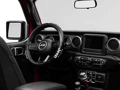Alterum Jeep Logo Elite Series Speed Grip Steering Wheel Cover - Black (87-18 Jeep Wrangler YJ, TJ, JK & JL)