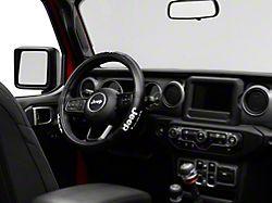 Alterum Jeep Logo Elite Series Speed Grip Steering Wheel Cover - Black (87-19 Jeep Wrangler YJ, TJ, JK & JL)