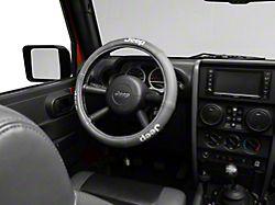 Alterum Jeep Logo Elite Series Speed Grip Steering Wheel Cover - Gray (87-20 Jeep Wrangler YJ, TJ, JK & JL)