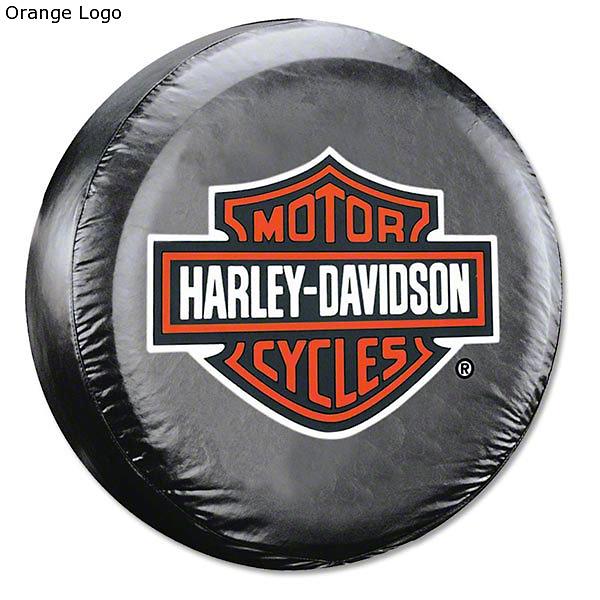 Alterum 26.5-31 in. Harley Davidson Spare Tire Cover - Black (87-18 Jeep Wrangler YJ, TJ, JK & JL)