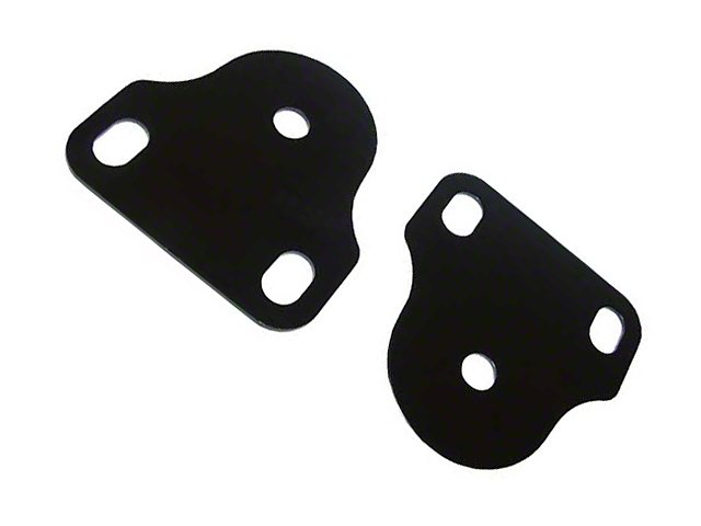 Rugged Ridge Interior Windshield Brackets - Black (87-95 Jeep Wrangler YJ)