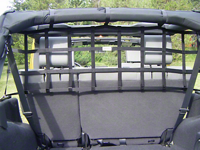 Aspen Rear Pet Barrier Net - Navy Blue (07-18 Jeep Wrangler JK 4 Door)