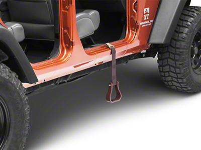 Aspen Cowboy Stirrup Step - Brown (87-18 Jeep Wrangler YJ, TJ, JK & JL)