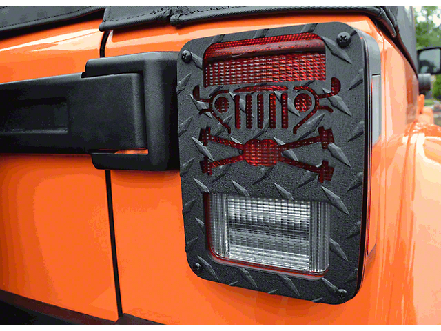 Tail Light Guards; Cross Axles Design (07-18 Jeep Wrangler JK)