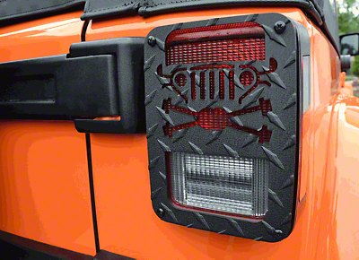 Jeep Tweaks Tail Light Guards - Cross Axles Design (07-18 Jeep Wrangler JK)
