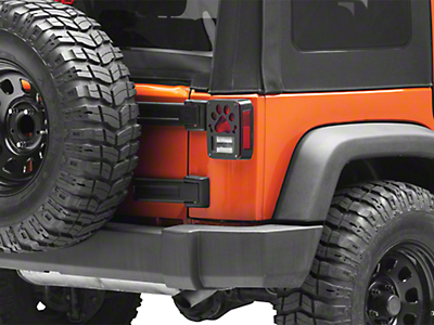 Jeep Tweaks Tail Light Guards - Paws & Bones Design (07-18 Jeep Wrangler JK)