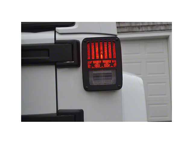 Jeep Tweaks Tail Light Guards - Stars & Stripes Design (07-18 Jeep Wrangler JK)