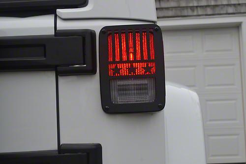Jeep Tweaks Tail Light Guards - Stars & Stripes Design (07-18 Jeep Wrangler JK)
