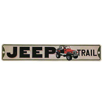 Jeep Trail Metal Street Sign
