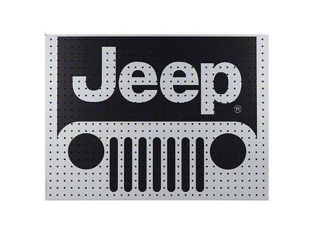 Jeep Wooden Peg Board - 32 x 24 in.