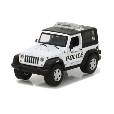 GreenLight Collectibles 2009 Jeep Wrangler JK Police Diecast Model - 1:64 Scale